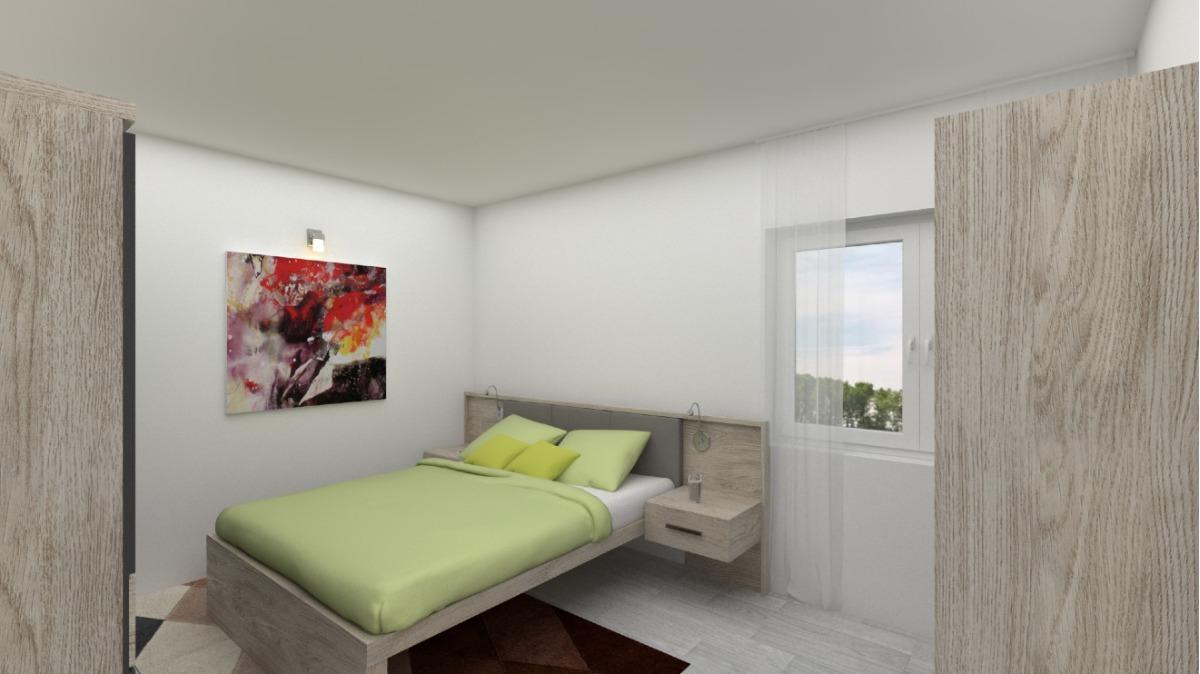 EG Wohnung 2: Schlafzimmer visualisiert (sanierungsbedürftig)