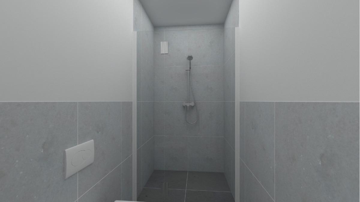 EG Wohnung 2: Bad visualisiert (sanierungsbedürftig)