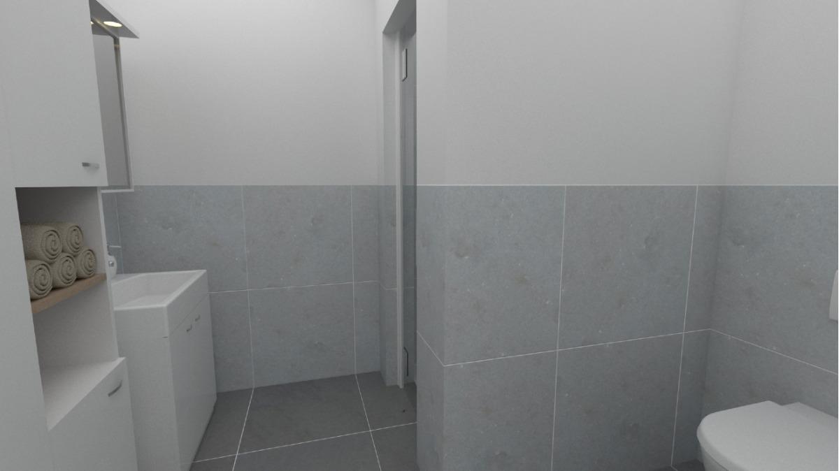 EG: Änderung Geschäftseinheit in Wohneinheit visualisiert da sanierungsbedürftig (Badezimmer)
