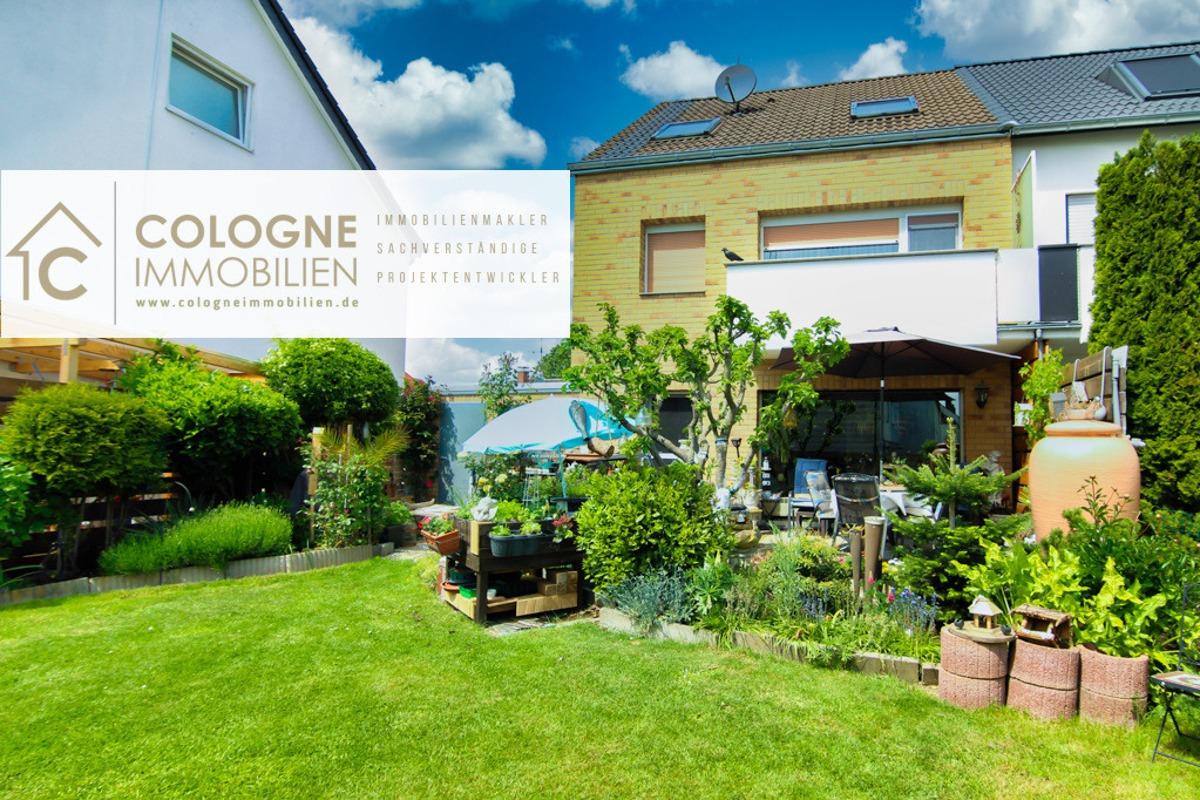 Rückansicht des Hauses inkl. der Terrasse