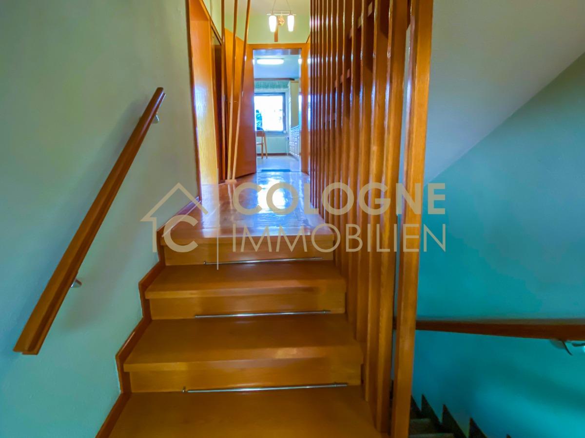 Eingangsbereich zum Erdgeschoss und Abgang zum Kellergeschoss