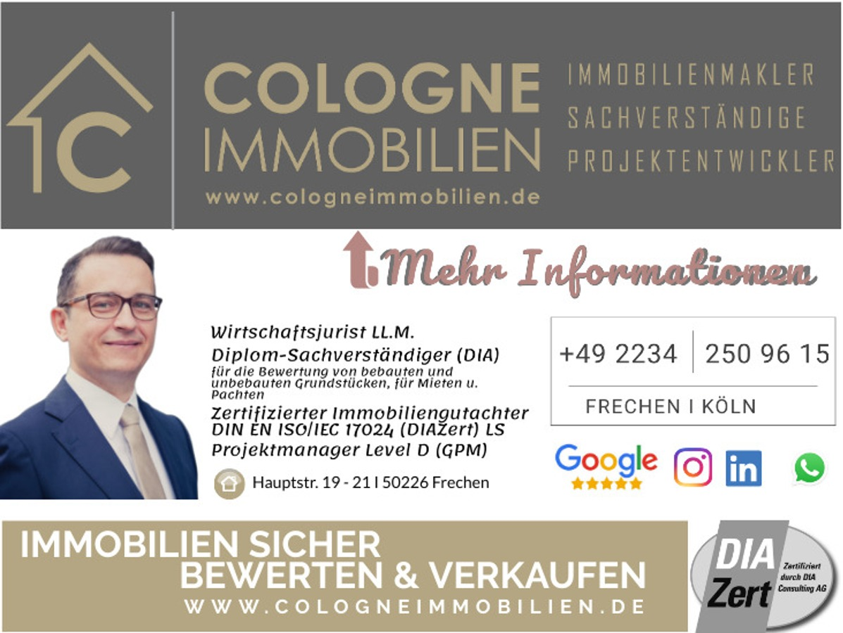 Mehr Informationen auf: www.cologneimmobilien.de